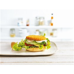 BURGER CHICKEN CRUMBED (6 X 1KG) #56613 STEGGLES