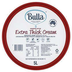 CREAM EXTRA THICK RED 5LT #4045 BULLA