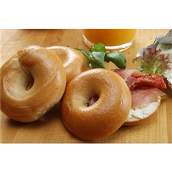 BREAD BAGEL PLAIN MINI BOILED (120 X 30GM) #11802 BAKERS MAISON