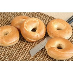BREAD BAGEL PLAIN BOILED (45 X 120GM) #11811 BAKERS MAISON