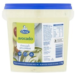 DIP AVOCADO HOMESTYLE 1KG(8) #7202 CHRIS'S