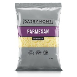CHEESE PARMESAN SHRED 1KG (6) #1400019 DAIRYMONT