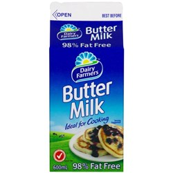 BUTTERMILK (12 X 600ML) #3844 DAIRY FARMERS
