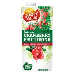 DRINK FRUIT CRANBERRY 1LT(12) #19940 GOLDEN CIRCLE