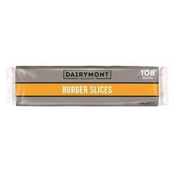 CHEESE SLICES BURGER 108SLC 1.35KG(12) DAIRYMONT