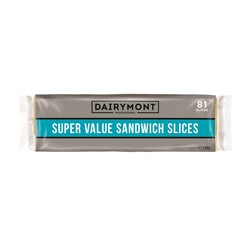 CHEESE CHEDDAR SLICES SUPER VALUE 81S 1.5KG(8) DAIRYMONT