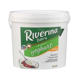 YOGHURT NATURAL 5KG #401115 RIVERINA
