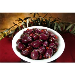 OLIVES BLACK PITTED MARINATED 2.5KG #2500-340 PRONTO E FRESCO