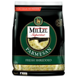 CHEESE PARMESAN SHRED 1KG (9) #1001107 MIL LEL
