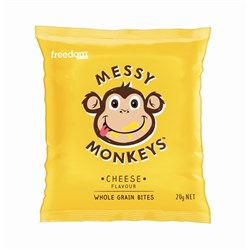 SNACK BITES  CHEESE (20 X 20GM) #MM-CHEESE MESSY MONKEY