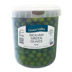 OLIVES GREEN SICILIAN 8KG #OL231 GREEN VALLEY