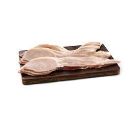 BACON LONG RINDLESS RASHERS 2.5KG(2) PRIMO