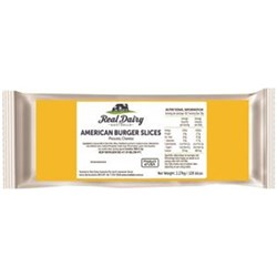 CHEESE SLICES BURGER AMERICA 120S 2.27KG(4) REAL DAIRY