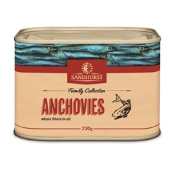 ANCHOVY FILLETS 720GM(12) #ANCH720(12) SANDHURST