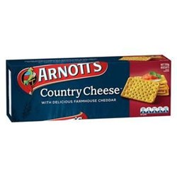 BISCUIT COUNTRY CHEESE 250GM(20) #100510 ARNOTTS
