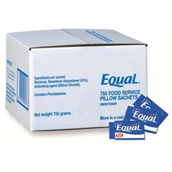 EQUAL PC SWEETENER SACHETS 750S(12) PILLOWS #173158 EQUAL