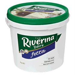 CHEESE FETTA 2KG(3) #101125 RIVERINA