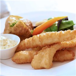 FISH FLATHEAD CRISPY BATTERED (60 X 50GM) 3KG #45631 I&J