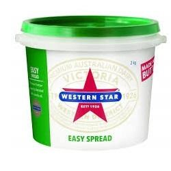 BUTTER EASY SPREAD BUCKET 2KG(4) WESTERN STAR