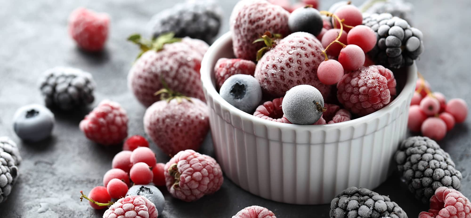 Image of frozen berries in a bowl