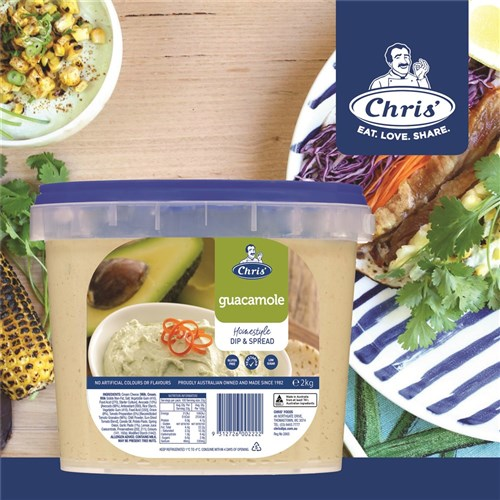 GUACAMOLE TRADITIONAL DIP 2KG(4) CHRIS